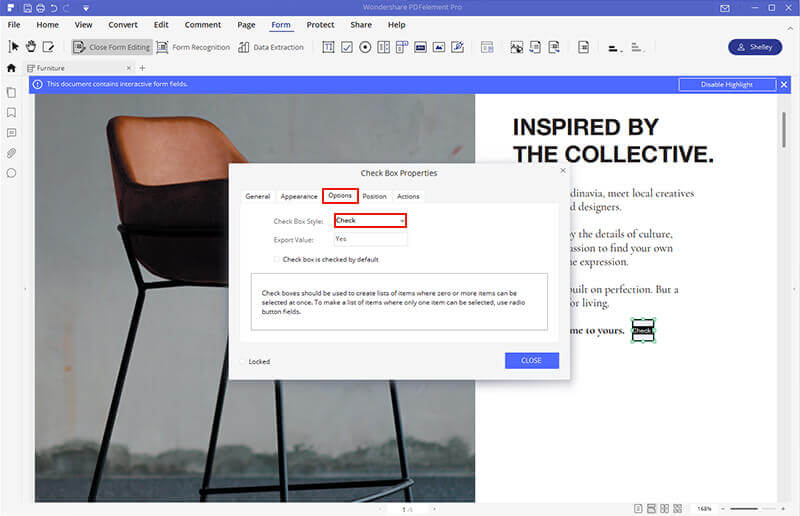 how to create fillable word document