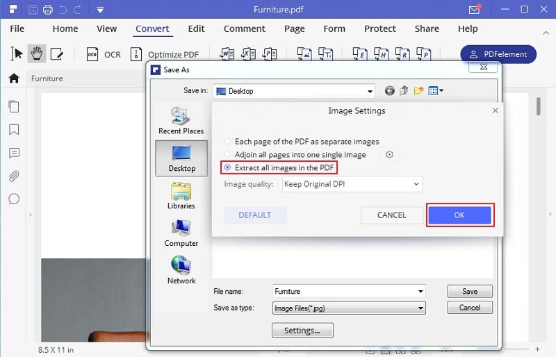 esporta PDF in immagine online