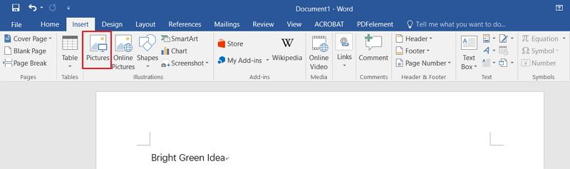 insert pdf into word doc