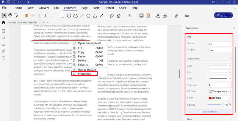 how to draw a line in adobe acrobat pro dc