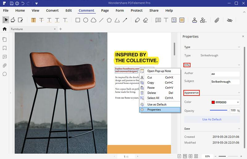pdf highlight color