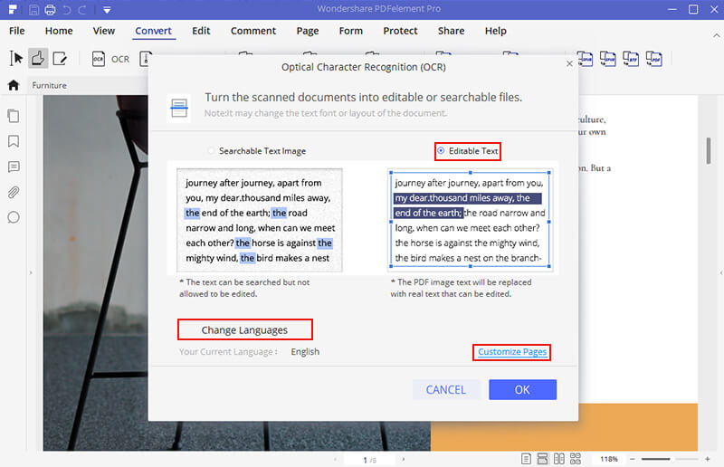 scan document edit text software free download