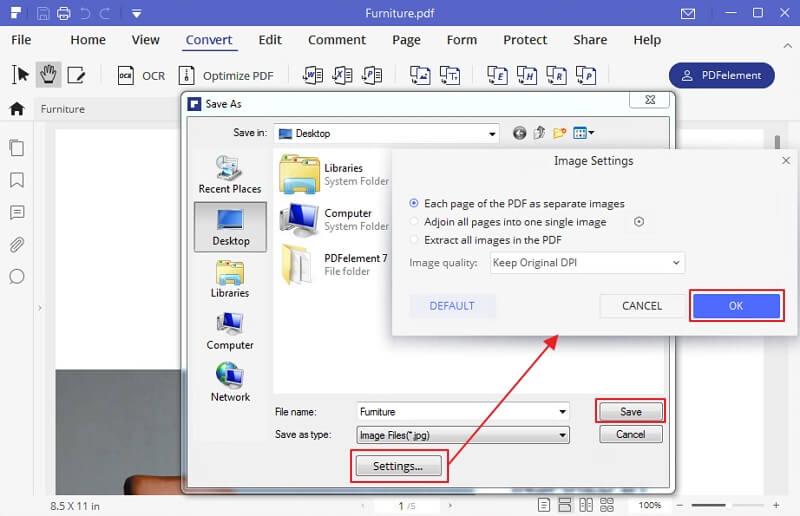 come salvare pdf in jpg