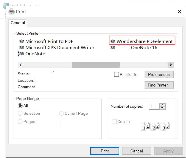 how to convert txt to pdf