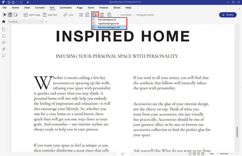 remove background from pdf online