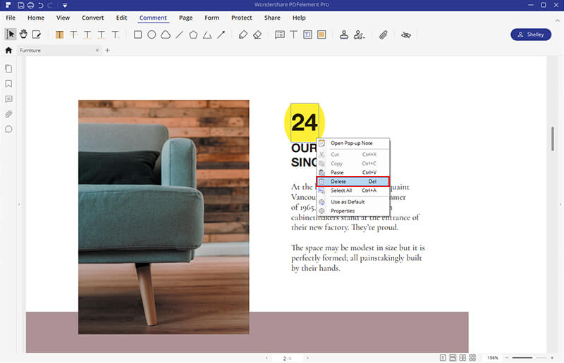 remove highlight from pdf