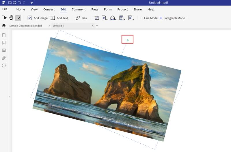 how to rotate picture in pdf