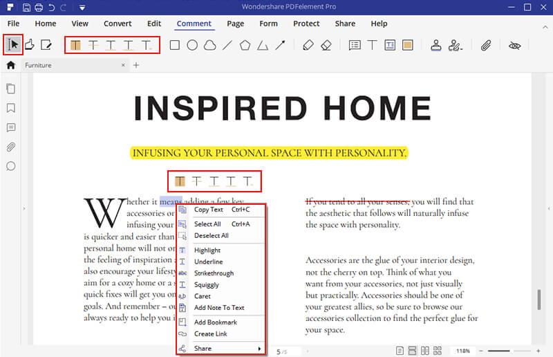 how to underline in indesign