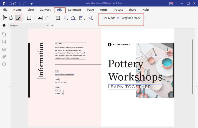Ausrichten von Text in konvertierten Word pdf Dateien