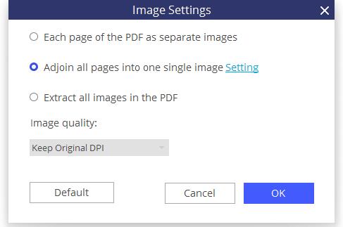 change pdf to jpeg