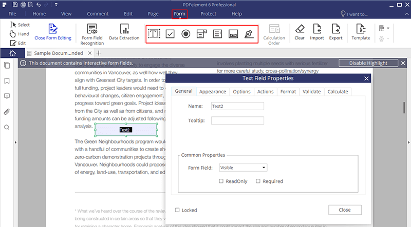 how to make a fillable form in pdf