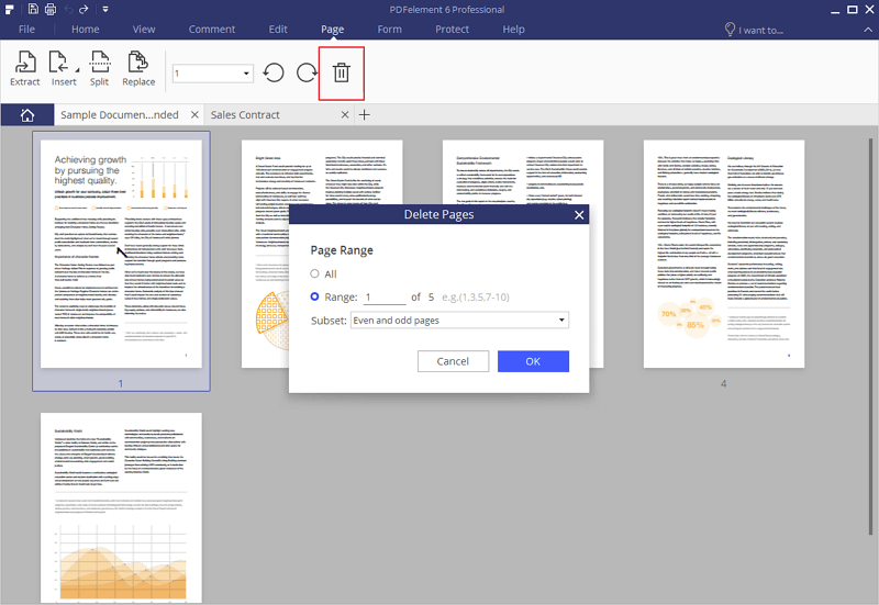 Delete pages from pdf on windows for Pdf document page delete