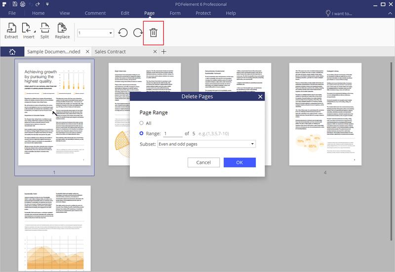 delete pages pdf