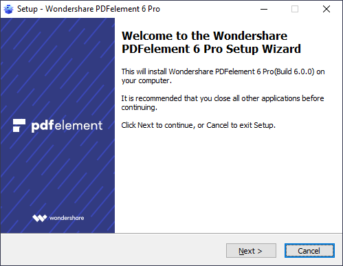 installare pdfelement su windows
