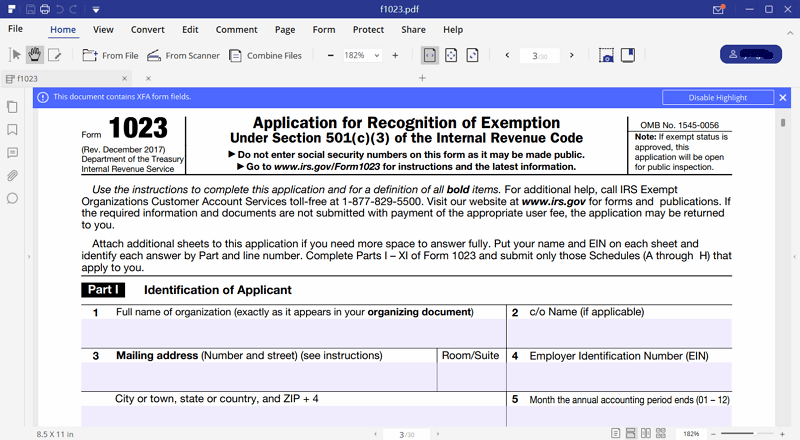 irs form 1023: filling now made easy with pdfelement | wondershare