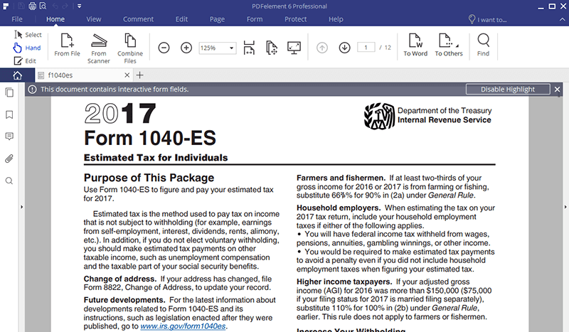 Irs form 1040 es nr fill with the best pdf form filler instructions for irs form 1040 esnr falaconquin