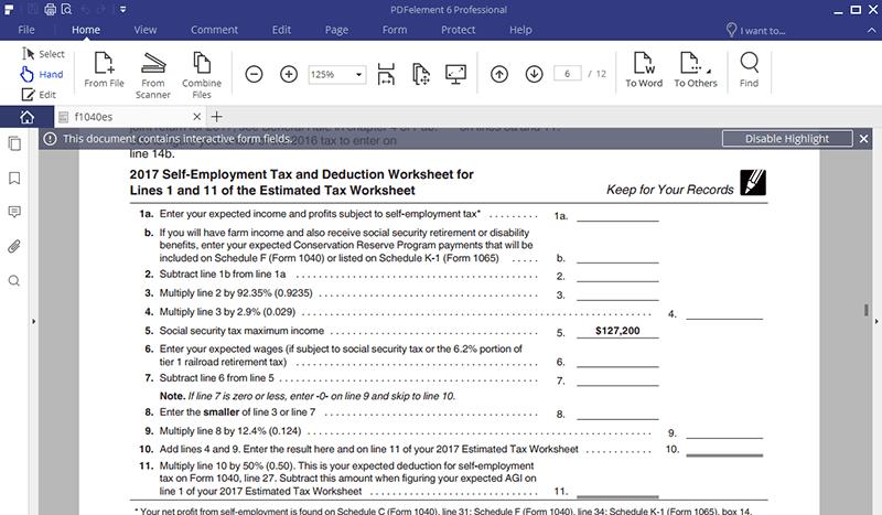 Irs form 1040 es nr fill with the best pdf form filler irs form 1040 es nr falaconquin