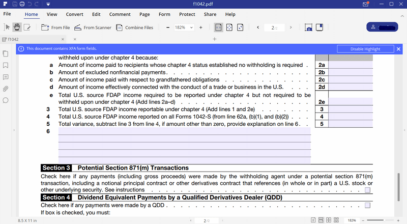 Irs form 1042 fill it with pdfelement fill out irs form 1042 falaconquin