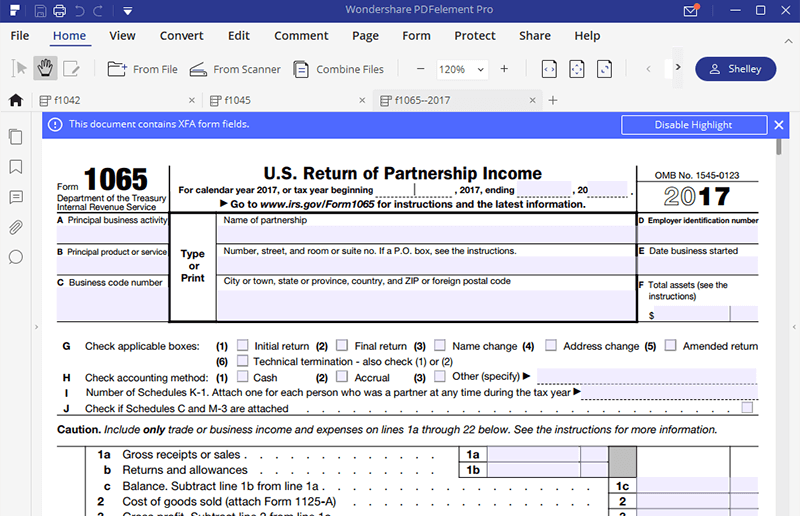 Irs Form 1065 How To Fill It With The Best Form Filler
