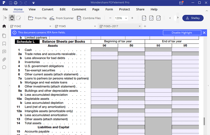 instructions for irs form 1065