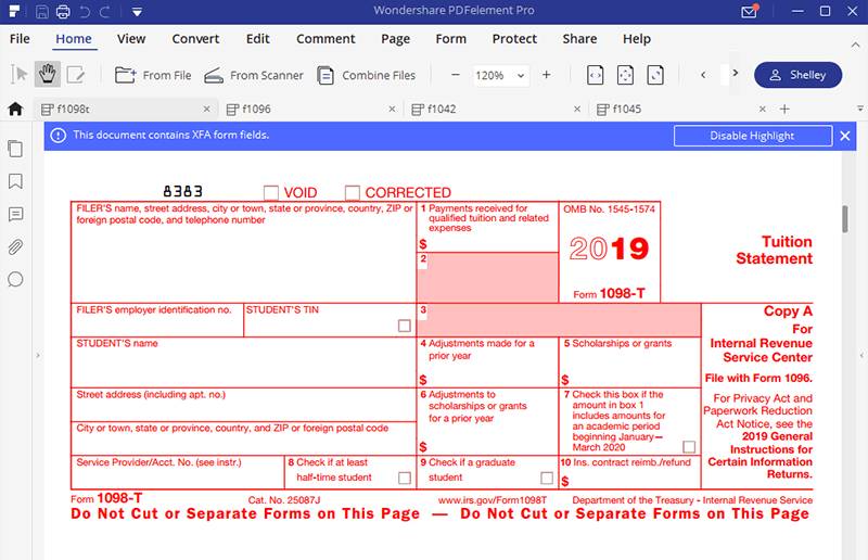 Irs form 1098 t fill without errors instructions for irs form 990 falaconquin