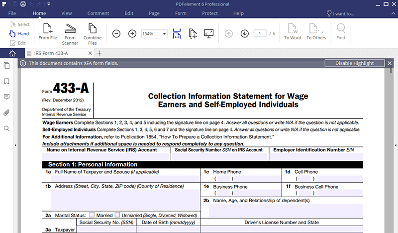 Irs form 433 a how to fill it right irs form 433 a instructions falaconquin