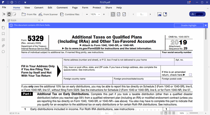 Instructions for how to fill in irs form 5329 irs form 5329 instructions step 4 fill out falaconquin