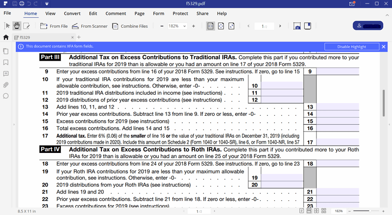 Instructions for how to fill in irs form 5329 irs form 5329 instructions falaconquin
