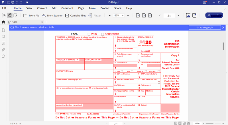 Instructions for how to fill in irs form 5498 irs form 5498 instructions falaconquin