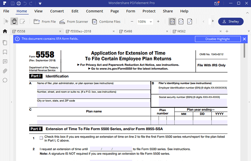 form 5558 where to file  IRS Form 12- A Guide to Fill it the Right Way