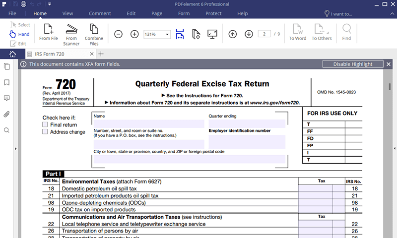 irs form 720 instructions