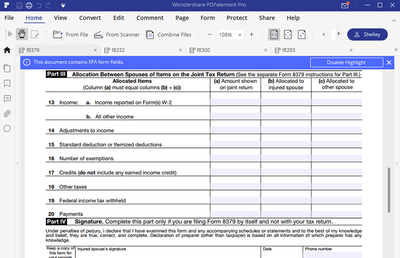 irs form 8379: fill it right | wondershare pdfelement
