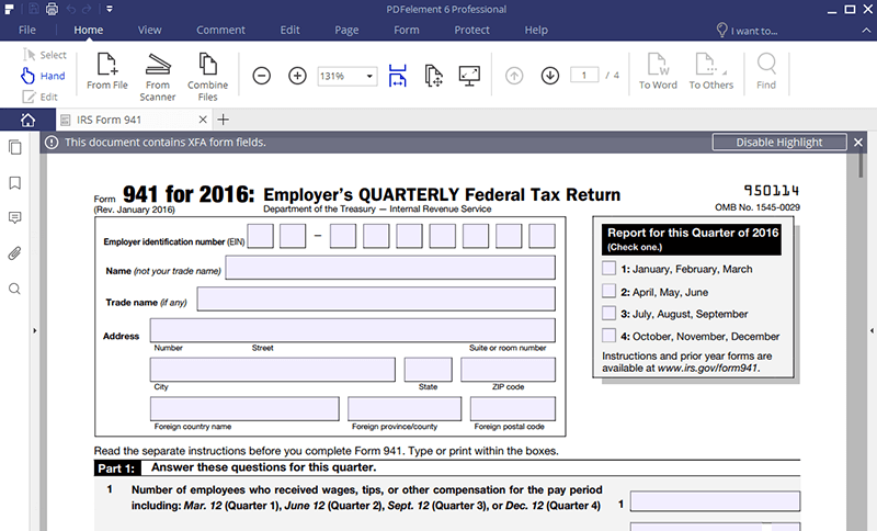 Irs Form 941 Find The Instructions Here To Fill It Right