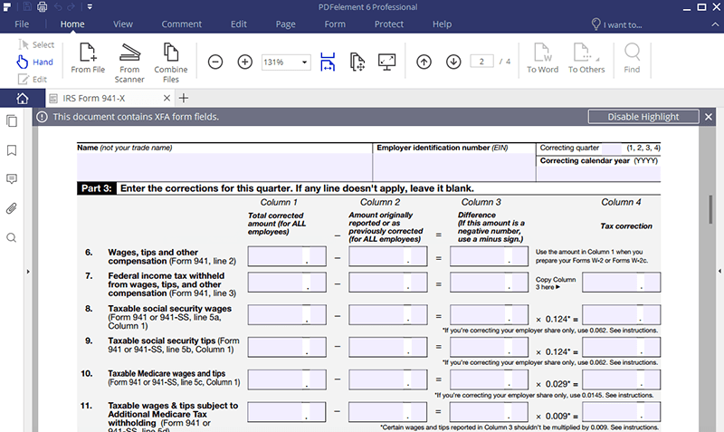 941 form correction  IRS Form 12-X: Learn How to Fill it Easily