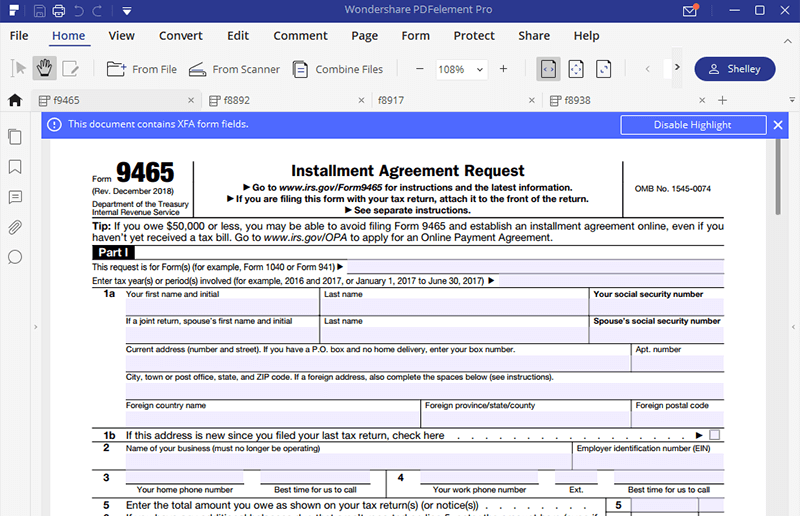 Irs form 9465 instructions for how to fill it correctly fill form 9465 falaconquin