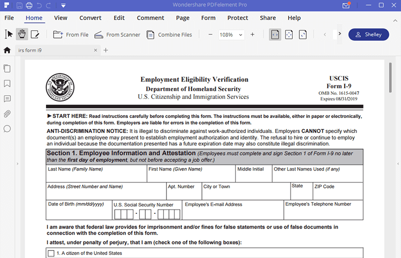 Form I 9 Understanding The Employment Eligibility Verification