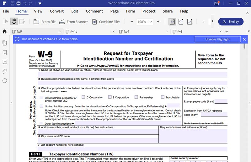 Irs form w 9 fill instructions here to fill it hassle free irs form w 9 instructions falaconquin