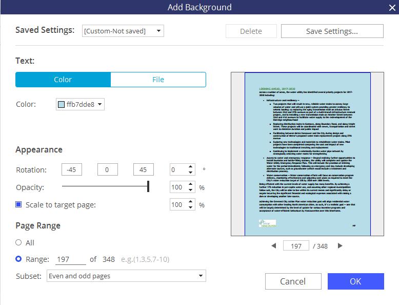 add background to pdf