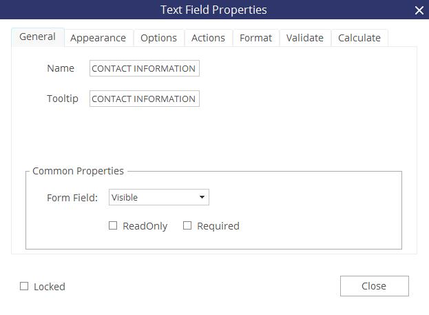 criando formulários pdf