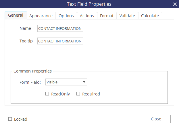 create a pdf form