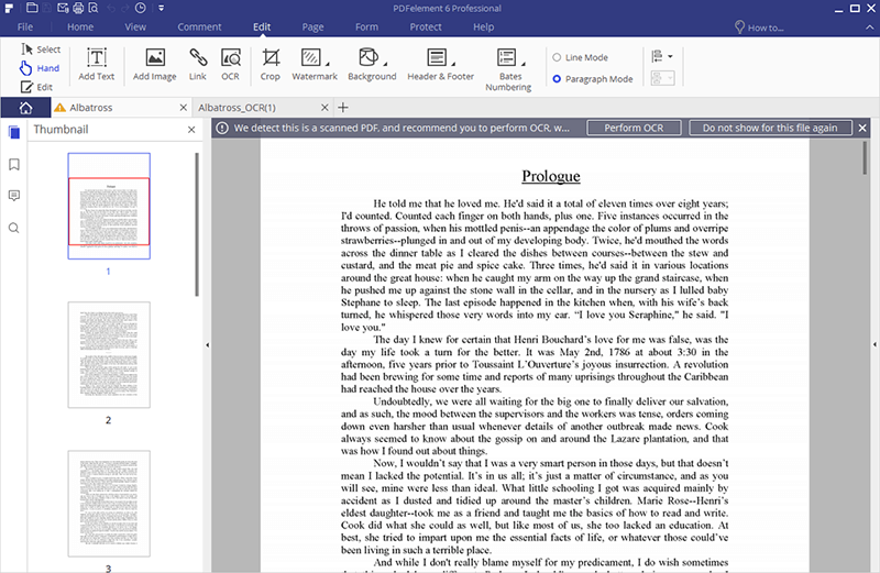 scanned pdf to editable pdf