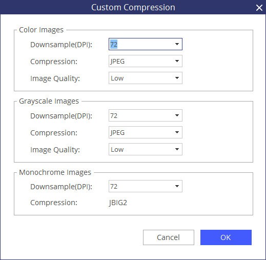 custom compression