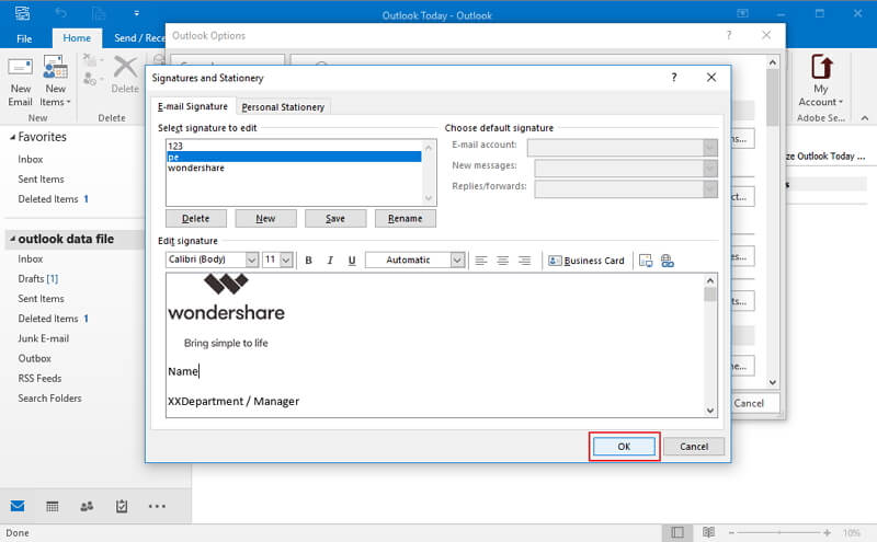 How to Add Logo to Email Signature in Outlook | Wondershare