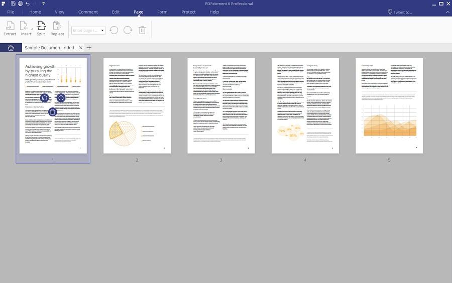 pdfelement 6 page interface