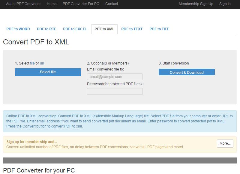 Pdf To Xml Converter Freeware