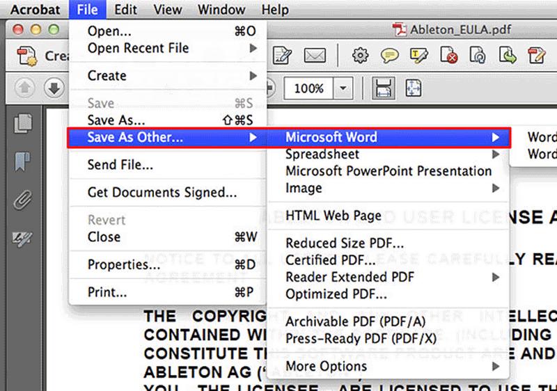 pdf a word online