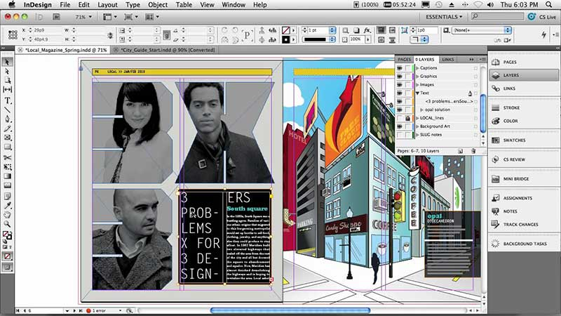 save indesign to pdf