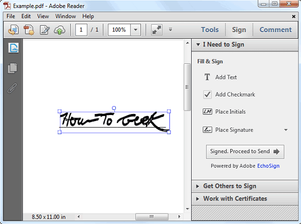 Comment ajouter une signature aux pdf avec adobe reader for Sign documents adobe pdf