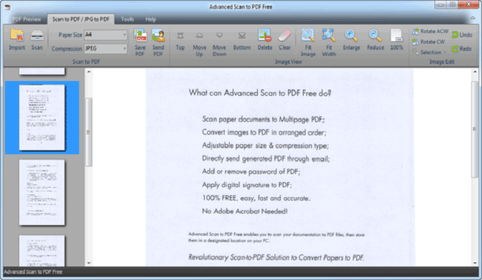 windows scan to pdf