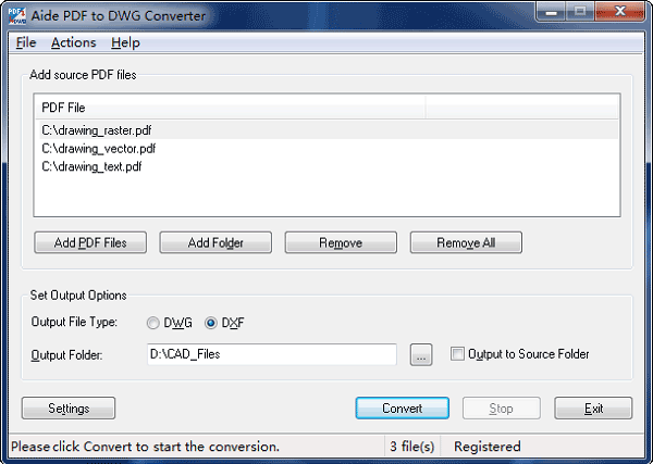 free pdf to dwg dxf converter